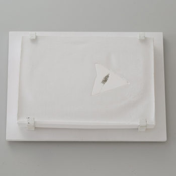 Plaster, Glass | 260 x 190 mm (10.2 x 7.48 in) | 2014
