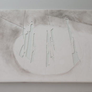 Plaster, Glass, sumi ink | 440 x 430 mm (17.3 x 16.9 in) | 2012
