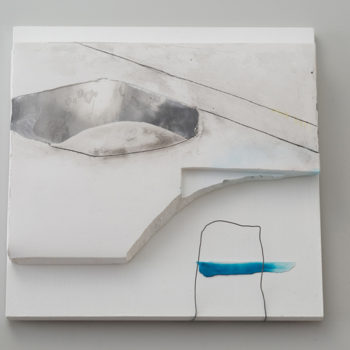 Plaster, Ink, Wire, Woodpanel, Lacquer | 220 x 220 mm (8.66 x 8.66 in)| 2015