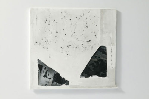 | Plaster, Japanese sumi ink | 320 x 300 mm ( 14.1 x 9.84 in ) | 2006