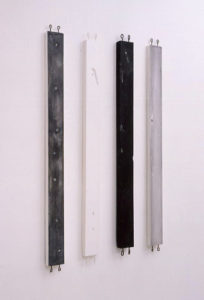 Plaster, Glass, Sumi ink, Metal | 240 x 690 x 20 mm ( 9.4 x 27.1 x 0.7 in ) | 2003