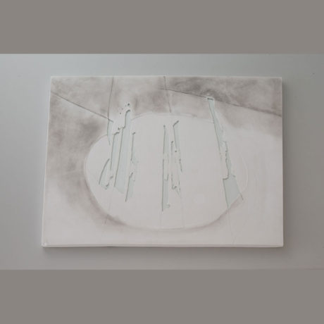 Plaster, Glass, sumi ink, 17.3 x 16.9 2012