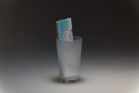 Plaster, Glass, Water color | φ67 × 165 mm | 2018