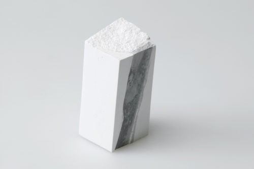 Plaster, Japanese sumi ink | 50 x 55 x 130 mm | 2004