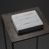 Water – 水面(みなも)| Plaster, Glass | 185 x 170 x 37 mm (7.2 x 6.6 x 1.4 in) | 2003